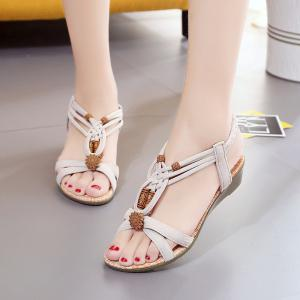 Slope with Beaded and Flat Beach Sandals -