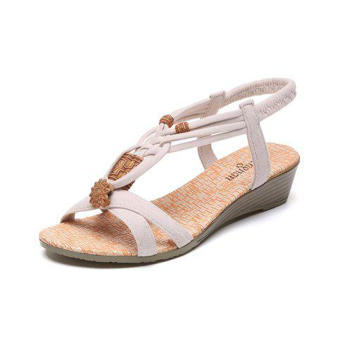 New Slope with Beaded and Flat Beach Sandals