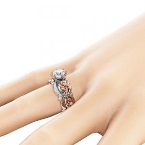 Women's Fashion Crystal Zircon Finger Ring -