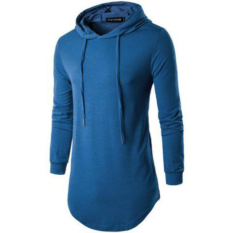 Trendy Men's Sports Casual Hoodie Solid  Long Sleeve