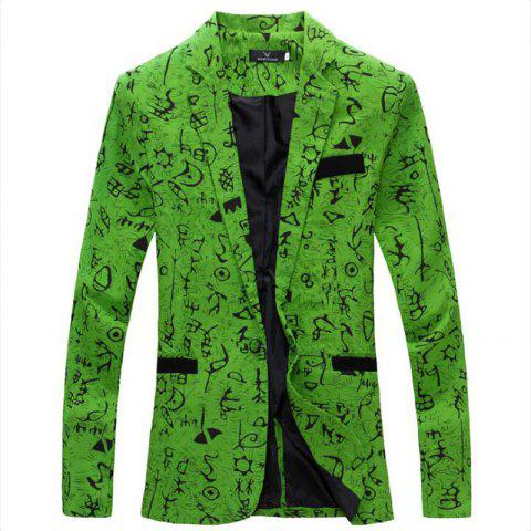 Outfits Men's Casual Blazer Cotton Blend Pattern Blazer Casual Coat