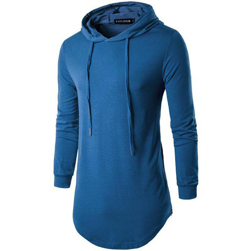 Chic Men's Sports Casual Hoodie Solid  Long Sleeve