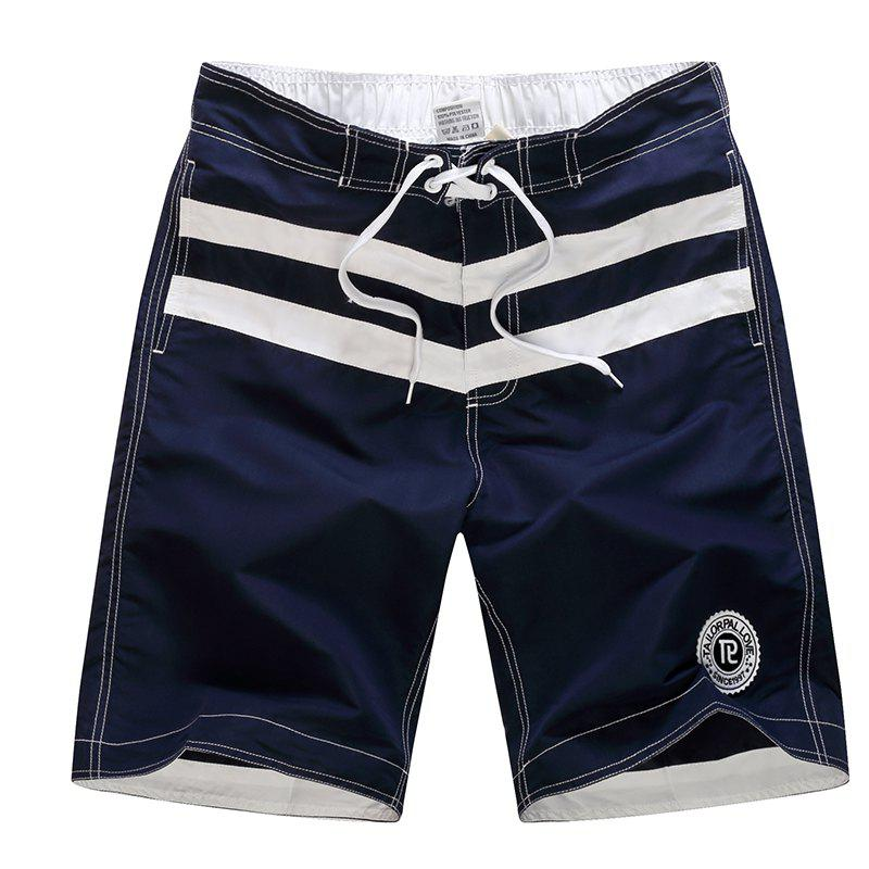 Sale Men's Boho One Piece Striped Basic Swimming Trunks