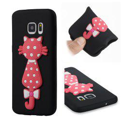 Чехол для Samsung S7 Soft 3D Flower Cat Phone -