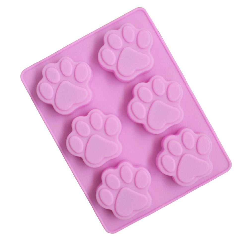 Outfit Creative Six Dog Footprints Silicone Cake Chocolate Cookie Mold
