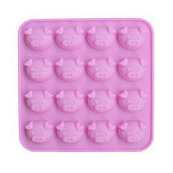 New 16 Even Cartoon Cute Pig Head Silicone Cake Chocolate Mold -