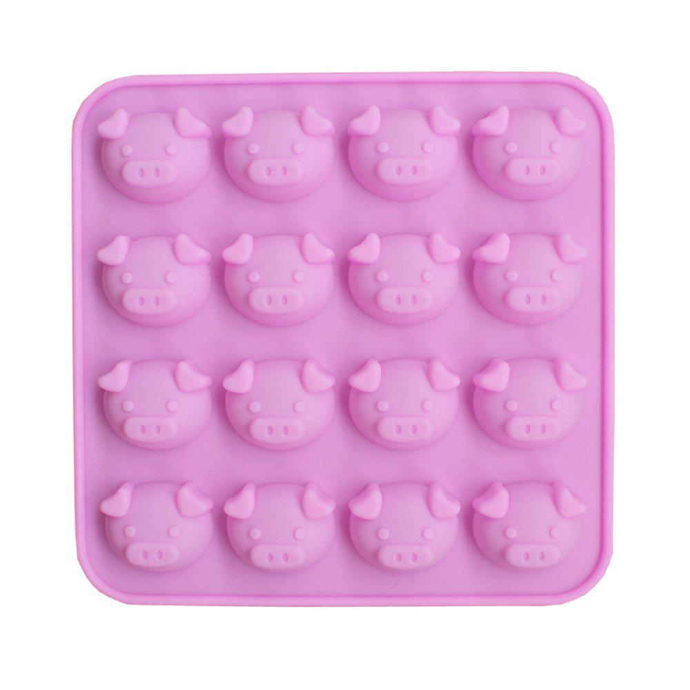 Affordable New 16 Even Cartoon Cute Pig Head Silicone Cake Chocolate Mold