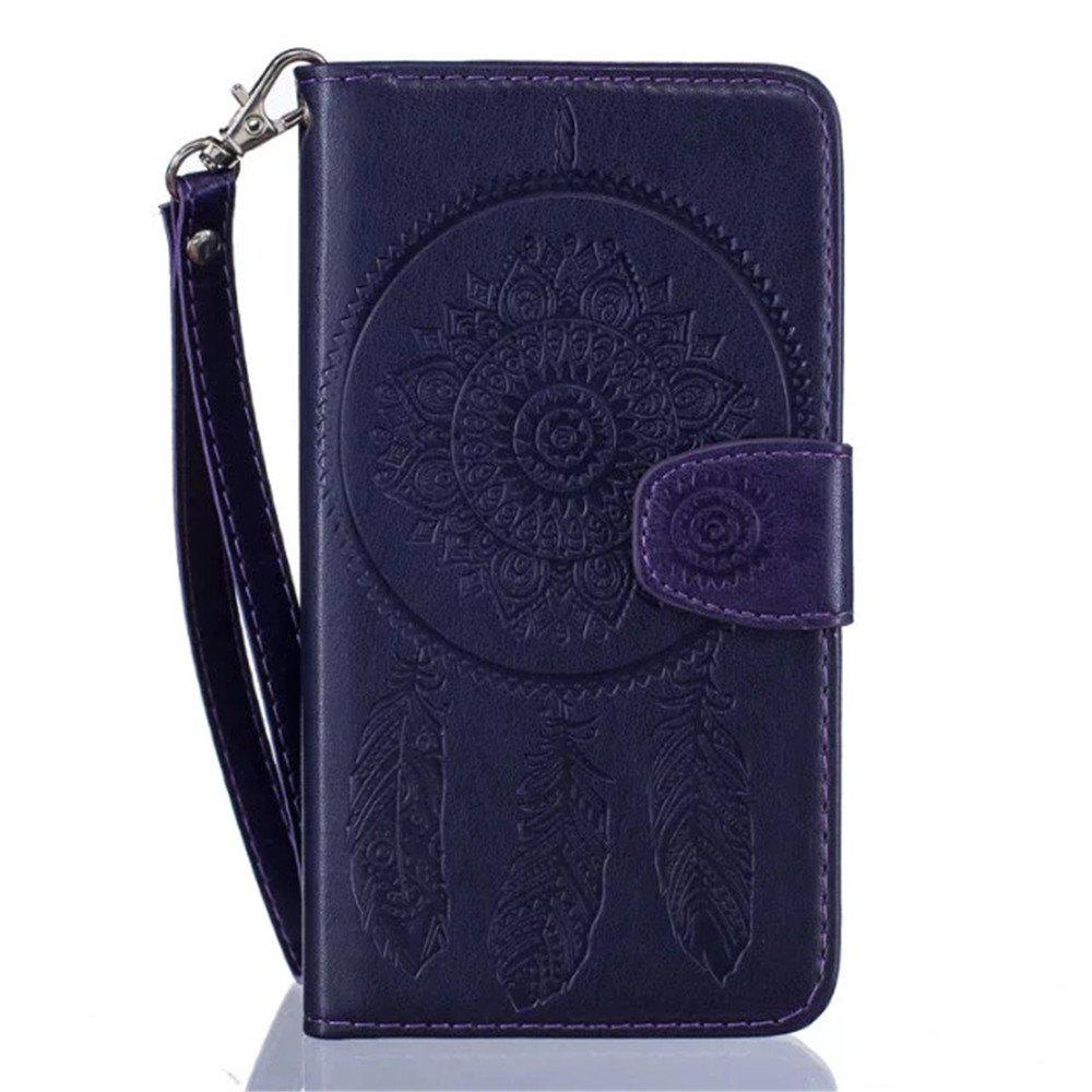 Cheap 3D Embossed Wind Bell PU Leather Flip Folio Wallet Cover for  iPhone 6/6S