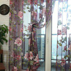 Large Peony Pattern Home Bedroom Living Room Balcony Window Screening -