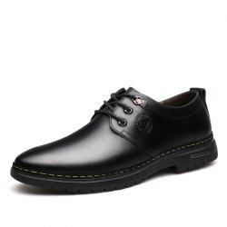 Outdoor Business Formal Wedding Leather Lace Up Men Causal Shoes -