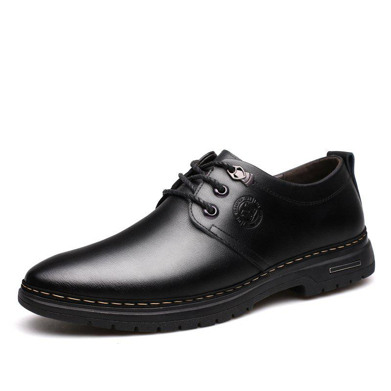 Chic Outdoor Business Formal Wedding Leather Lace Up Men Causal Shoes