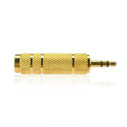 3.5MM Male Plug To 6.35MM Female Stereo Jack Adaptor Gold Plated For Audio Earphone Headphone -