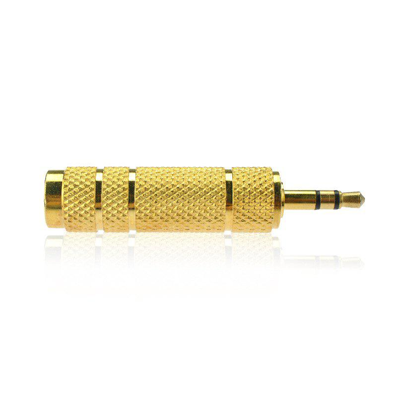 Hot 3.5MM Male Plug To 6.35MM Female Stereo Jack Adaptor Gold Plated For Audio Earphone Headphone