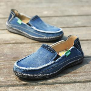 Canvas Men Loafers Summer Slip on Leisure Hiking Casual Beach Sport Sneakers -