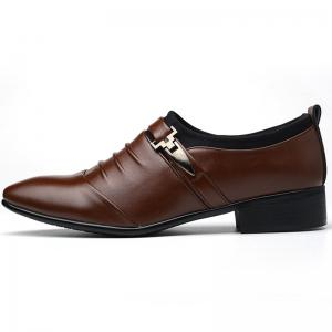 Men New Trend for Fashion Outdoor Walking Black Leather Business Shoes -