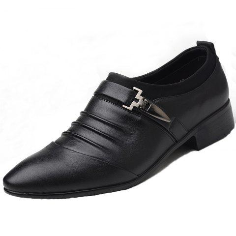 Shop Men New Trend for Fashion Outdoor Walking Black Leather Business Shoes