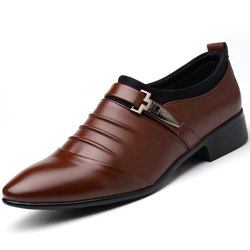 Outfits Men New Trend for Fashion Outdoor Walking Black Leather Business Shoes