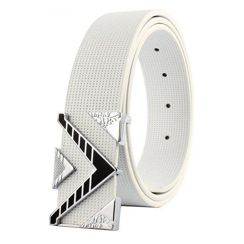 Latest ZHAXIN 3010 V-Shaped Black Clasp Fashion Man Smooth Belt