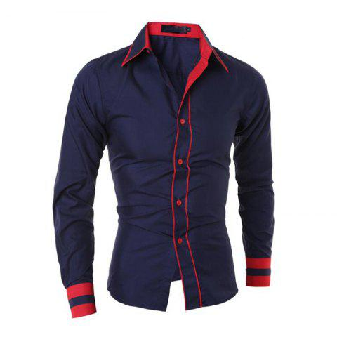 Outfit Men's Casual Simple Stripe Long Sleeves Shirts