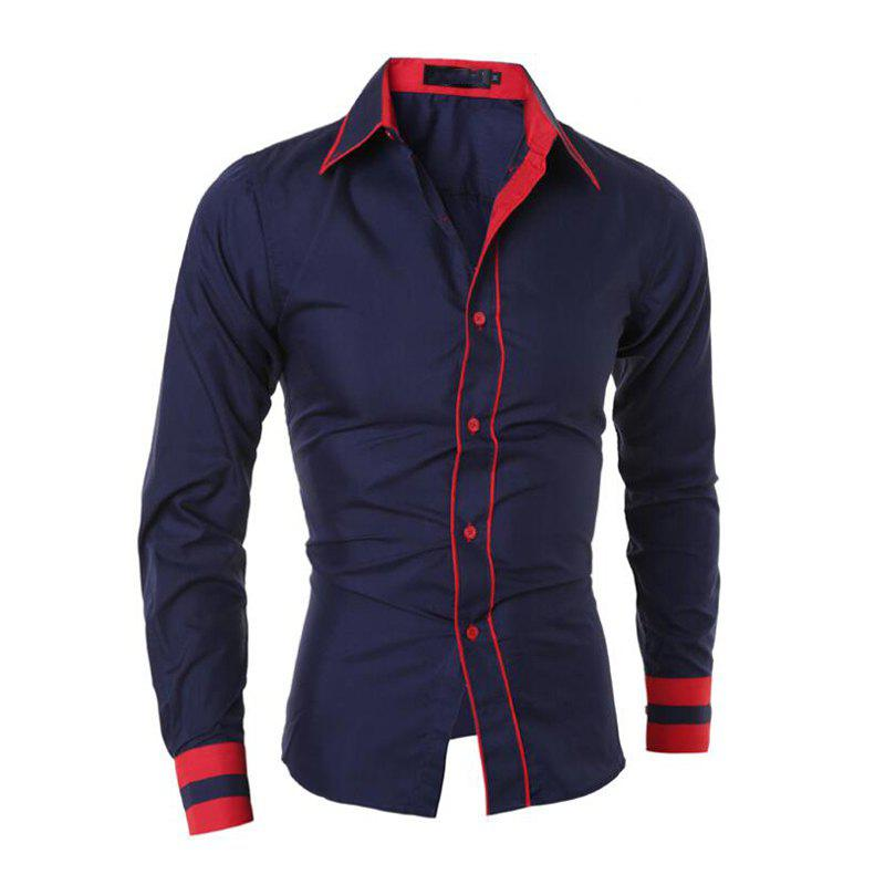 Fashion Men's Casual Simple Stripe Long Sleeves Shirts