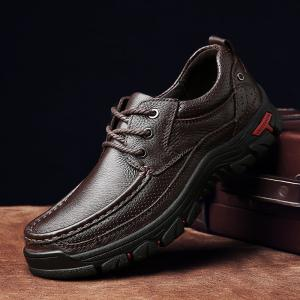 Men Casual Shoes Leather Business Shoes -