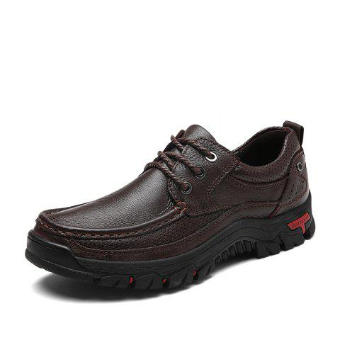 New Men Casual Shoes Leather Business Shoes