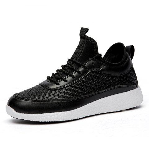 Fashion Breathable Lace Up FlatsSneakers Athletic Outdoor Casual Running Shoes