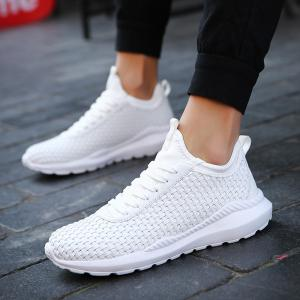 Breathable Lace Up Flats Sneakers Athletic Outdoor Casual Running Hiking Shoes -