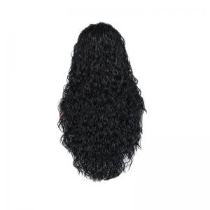 Black Curly Former Lace Wig for Women -