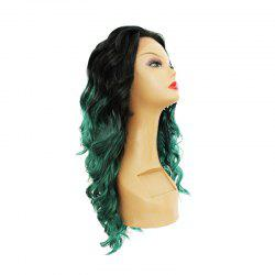Gradual Change Green Chemical Fiber Front Bud Silk Wig -