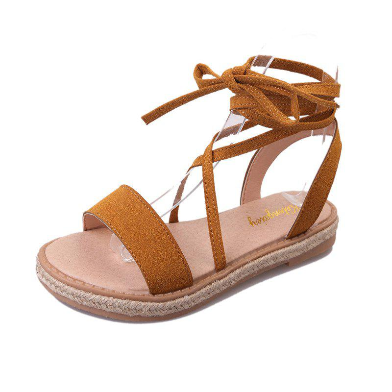 282ec72d3568e 2019 Strappy Sandals Women s Summer Flat Buckle