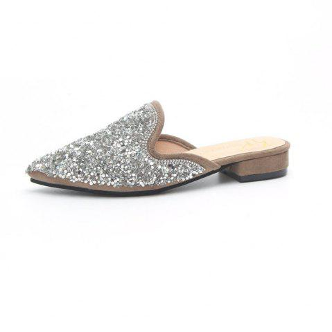 Mules pointues Sequin Mules