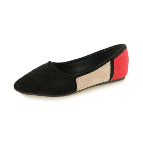 Hot Mutil Color Pointed Toe Suede Flats