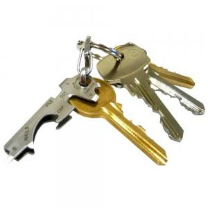 Multifunction Stainless Steel 8 in 1 Portable Key Clip Holder Gadget -