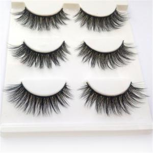 3 Pairs Set Eyelashes 3D Thick HandMade Full Strip Lashes -