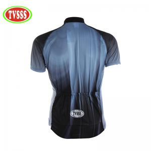TVSSS Men Short Sleeve Long Hole Mesh Sportswear Summer Cycling Suit -