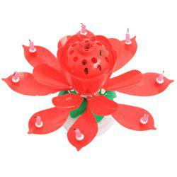 Cake Topper Party Romantic Birthday Candle Lotus Light Lamp -