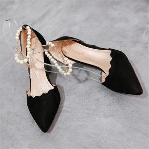 Shallow Mouth Thin  Pointy Head Fashionable  Match Women's Shoes -