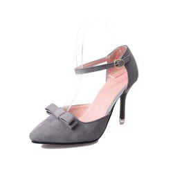Thin Pointed  Small Bow Bow Tie Women's Shoes -