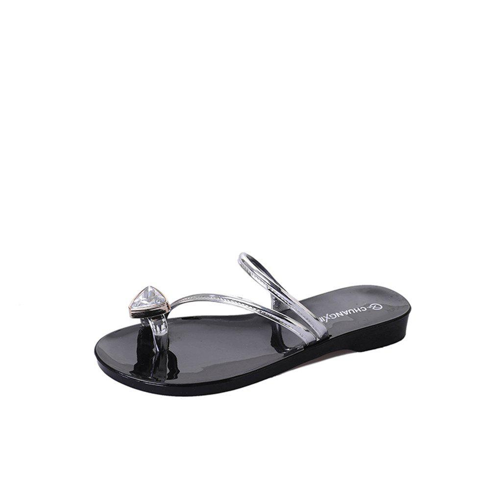 Affordable Drill Clip Toe Simple Beach  Flat Heel Shoes