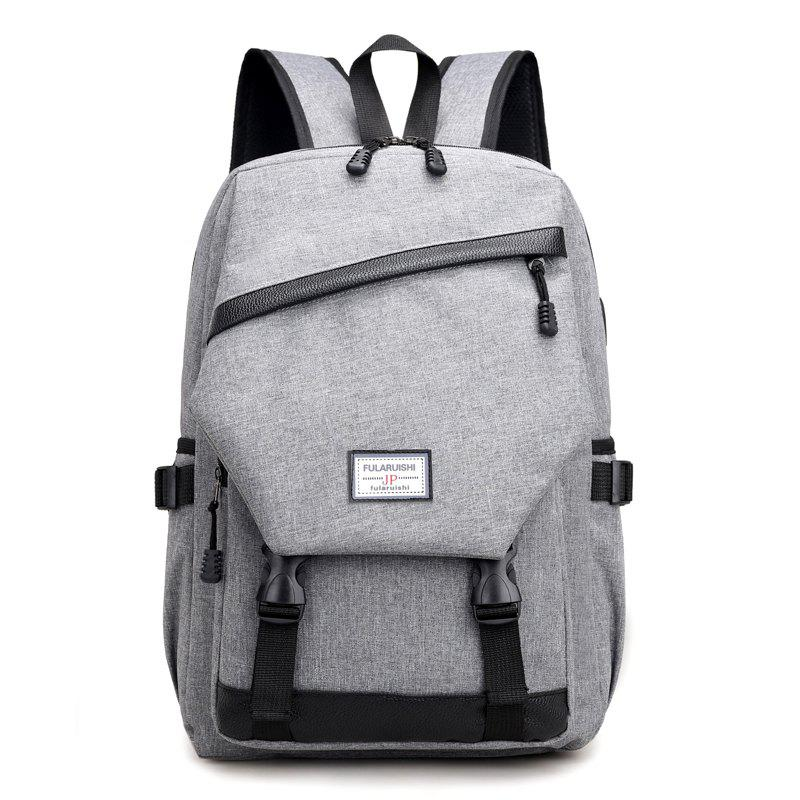 Shops Men Backpack Anti-Theft External USB Charge Port For Laptop School Bags Male