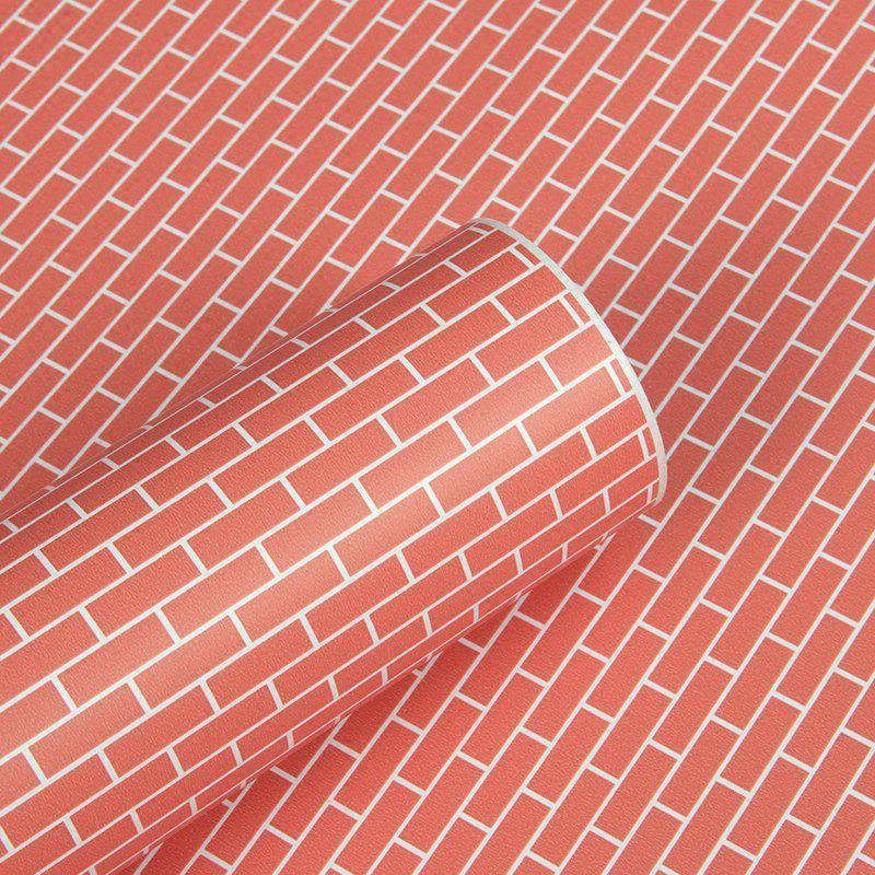 2019 dsu 3d wallpapers retro red brick wall stickers p-1008