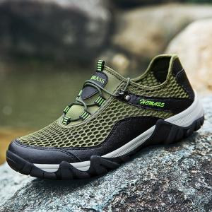 HOMASS Men Casual Hiking Wear Water Outdoor Mesh Climbing Breathable Shoes -