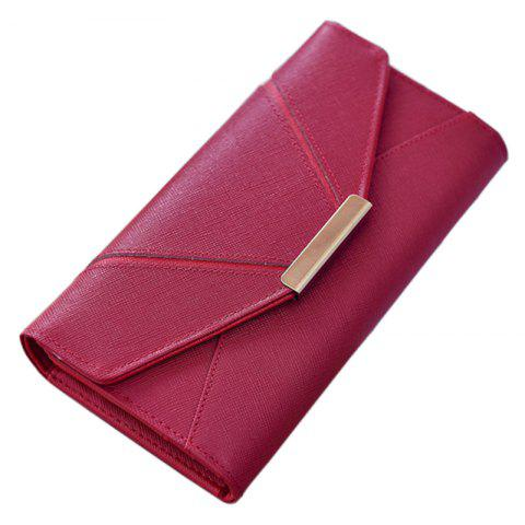 Trendy Ladies Fashion  Long PU Leather Clutch Purse Card Holder Wallet
