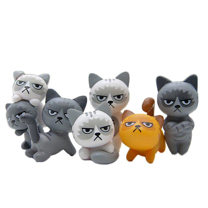 Trendy Super Cute Lovely Unhappy Cats Action Figure Toy Kids Gifts 6pcs