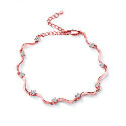 Fashion Wave S-shaped  Zircon Anklet JL0001 -