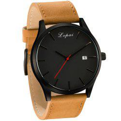 Lvpai P066 Men's Fashion Casual Leather Wrist Watch -