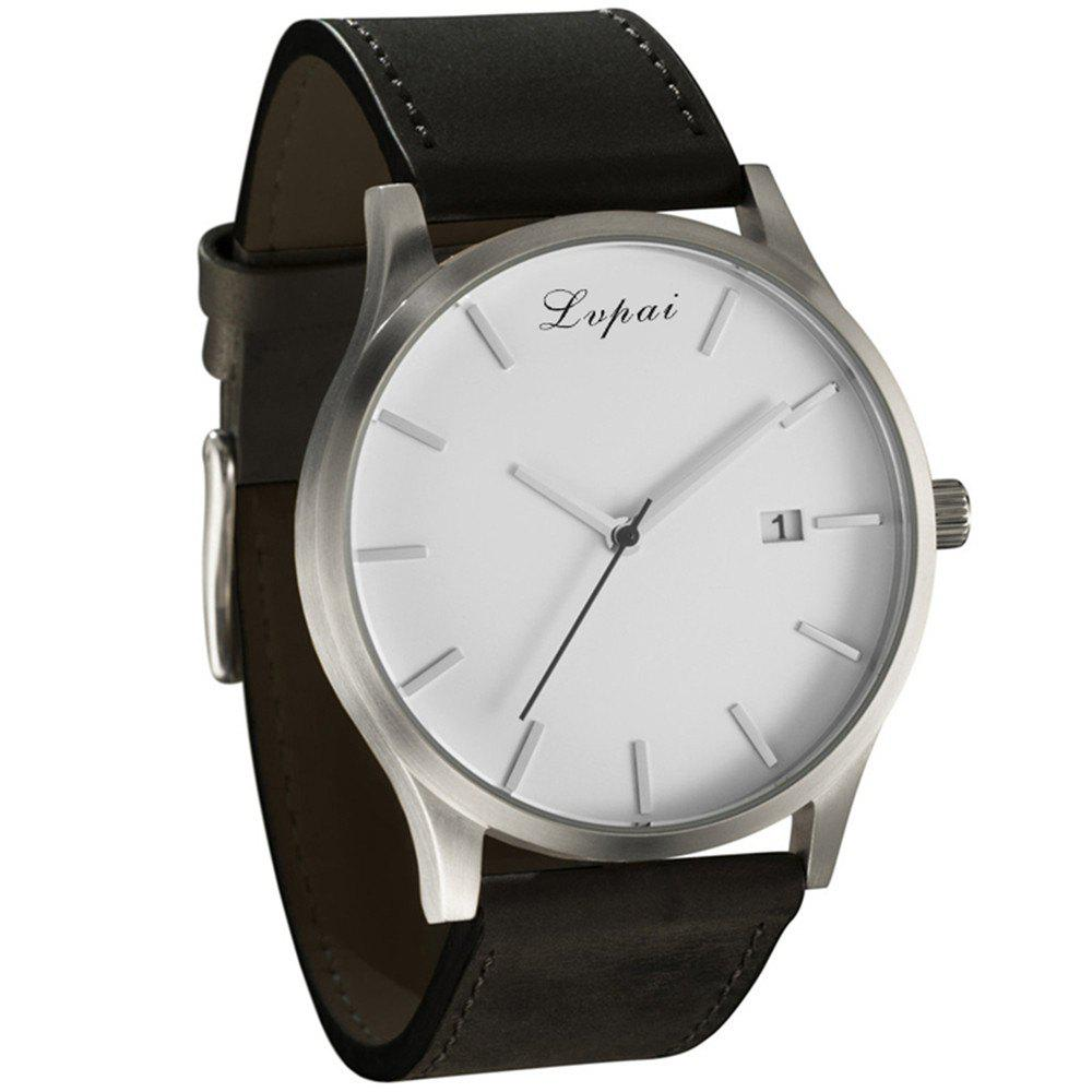 Chic Lvpai P066 Men's Fashion Casual Leather Wrist Watch