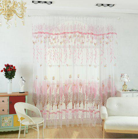 Cheap Offset Willow Butterfly Tree Curtain Glass Yarn