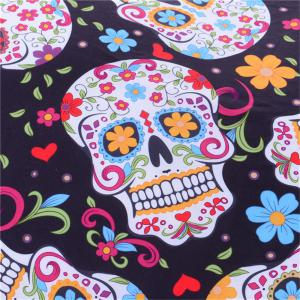 New Sugar Skull Bedding 3pcs Duvet Cover Set Digital Print -
